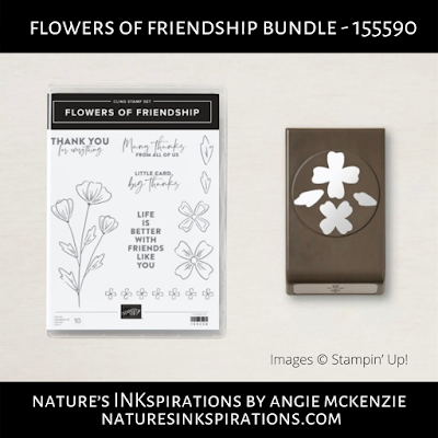Flowers of Friendship Bundle by Stampin' Up! | Nature's INKspirations by Angie McKenzie