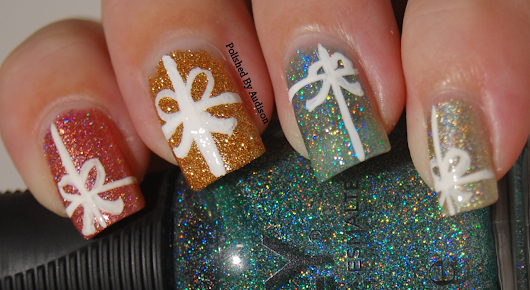 12 Days of Christmas Nail Art Challenge | Day 11 | Presents
