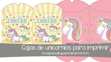 Cajitas de unicornios para imprimir 🦄