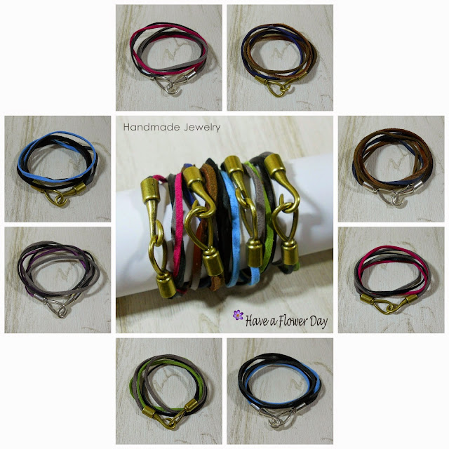 TWIST. Pulseras para hombre con zamak, cuero y ante · Mens bracelets with zamak, leather and suede