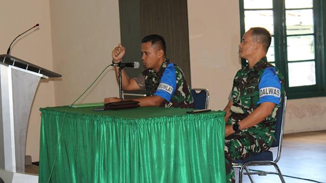 Dandim 0703/Cilacap Tutup Kegiatan Latnister TA 2018