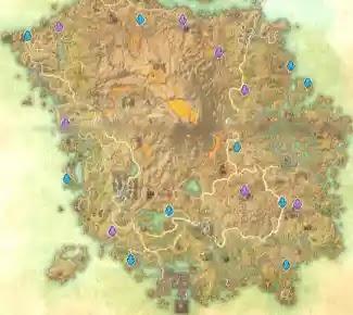 Vvardenfell Skyshards Location Map The Elder Scrolls Online (ESO)