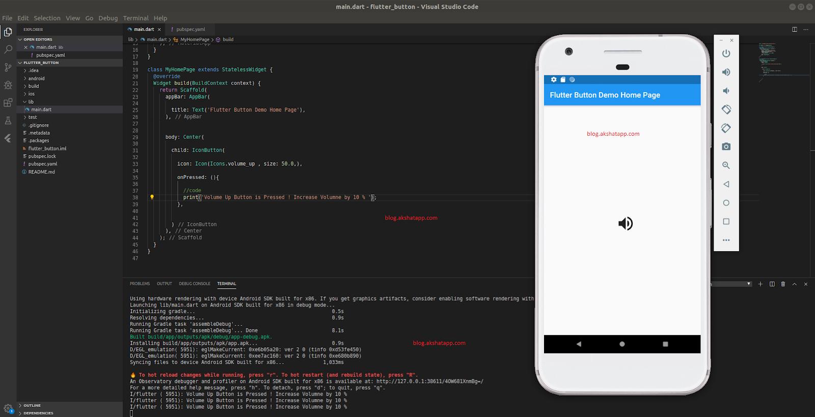 IconButton Class Implementation