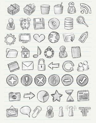 icones-vecteurs-symboles-medias-dessins-noir-blanc