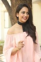 Rakul Preet Singh in lovely Pink Crop Top and Black Trousers at Jaya Janaki Nayaka success meet 002.JPG