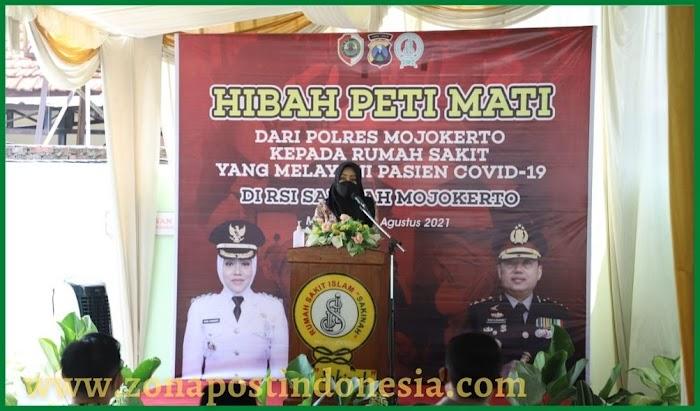 Polres Mojokerto Hibahkan 150 Peti Jenazah Untuk RS Rujukan Covid-19