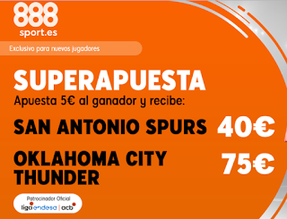 Superapuesta 888sport nba: Spurs v City Thunder 8-11-2019
