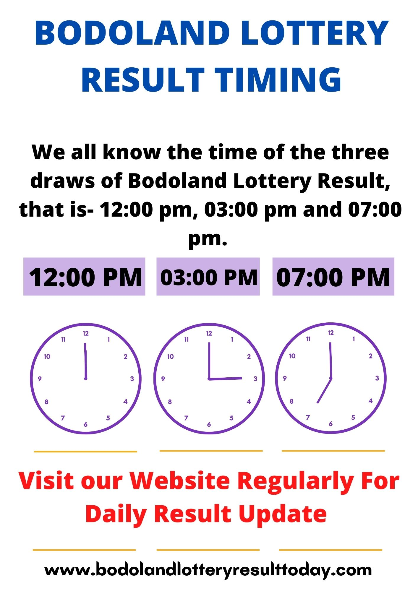 Bodoland Lottery Result Today Timing
