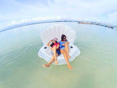 keindahan objek wisata pulau angso duo pariaman