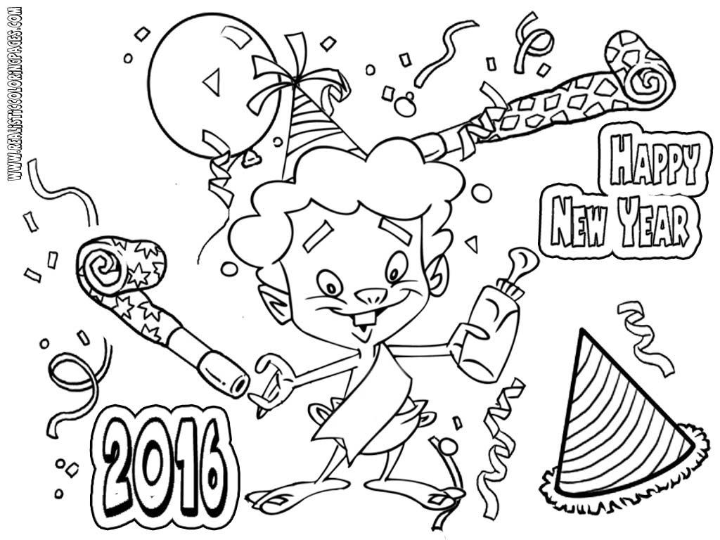 Adult Coloring New Year 2017 Coloring Pages