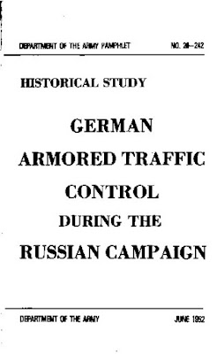 German Armoured Traffic Control During the Russian Campaign, June 1952