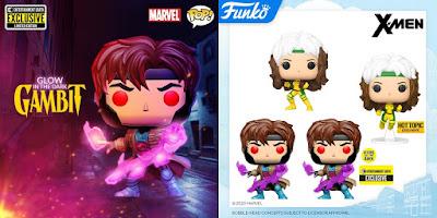 X-Men '90s Gambit & Rogue Pop! Marvel Vinyl Figures by Funko