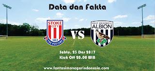 Data dan Fakta Fantasy Premier League Stoke City vs West Bromwich Albion Fantasi Manager Indonesia