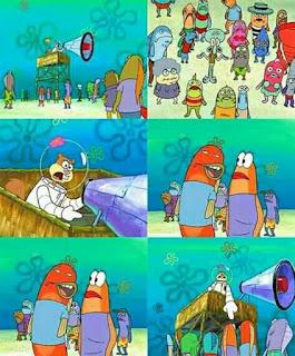 meme spongebob terpaksa