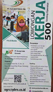 Loker PT Berkah Indo Garment 2020 BIG Semarang