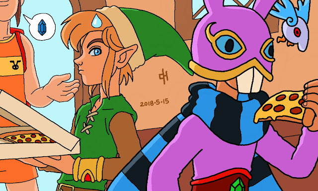 Link and Ravio order pizza