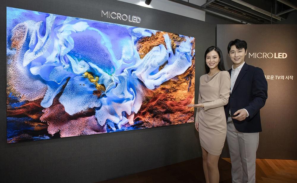 삼성전자, '마이크로 LED TV' 110형 신제품 공개