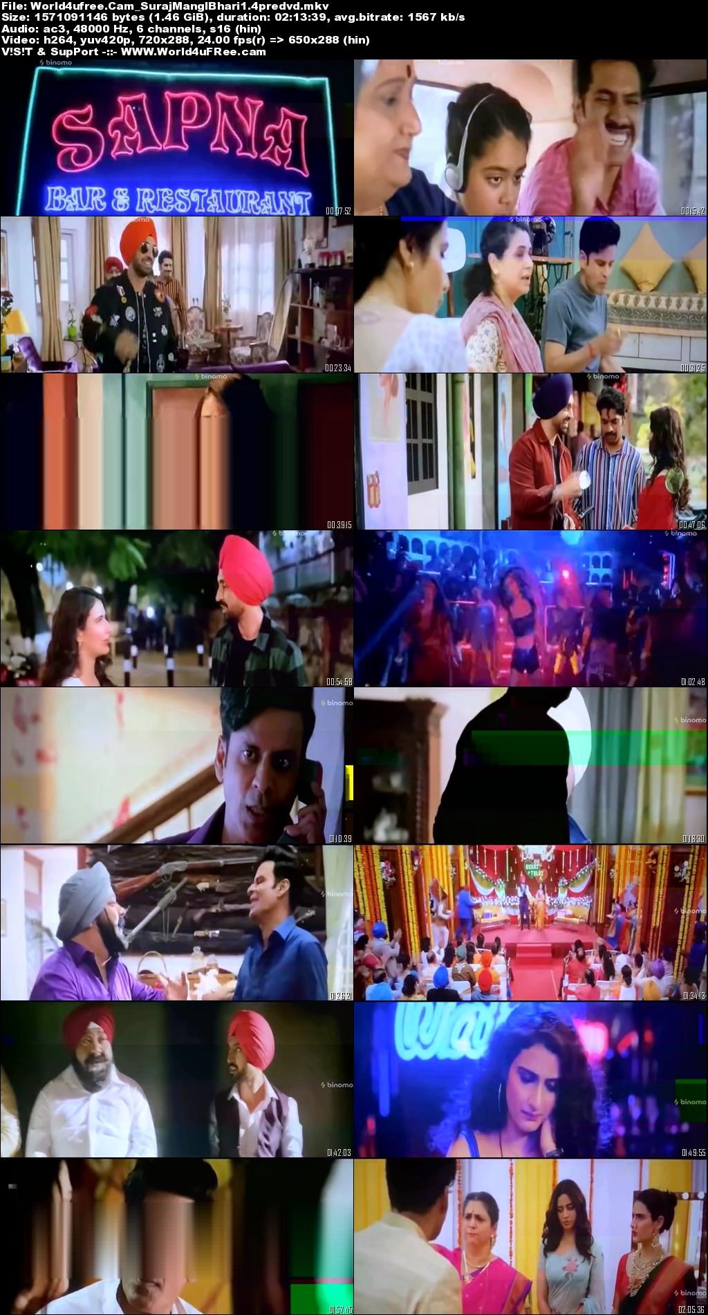 Suraj Pe Mangal Bhari (2020) Hindi Movie Pre-DVDRip x264 1.4Gb MKV