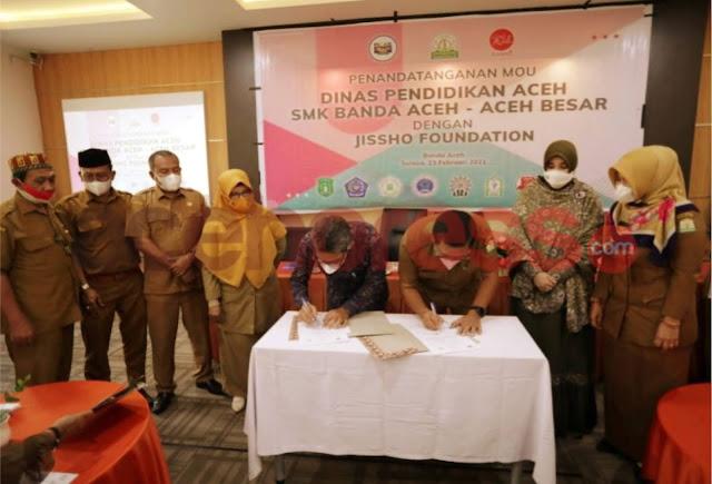 Disdik Aceh Jalin Kerjasama Dengan Jissho Foundation
