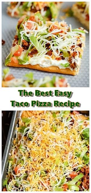 #The #Best #Easy #Taco #Pizza #Recipe #chickenrecipes #recipes #dinnerrecipes #easydinnerrecipes