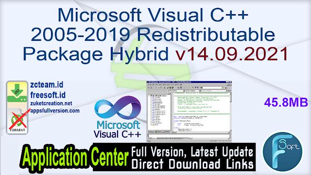 Microsoft Visual C++ 2005-2019 Redistributable Package Hybrid v14.09.2021