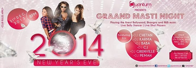 New  Year's Eve Party at Quantum the Leap, The Center Stage Mall, Noida