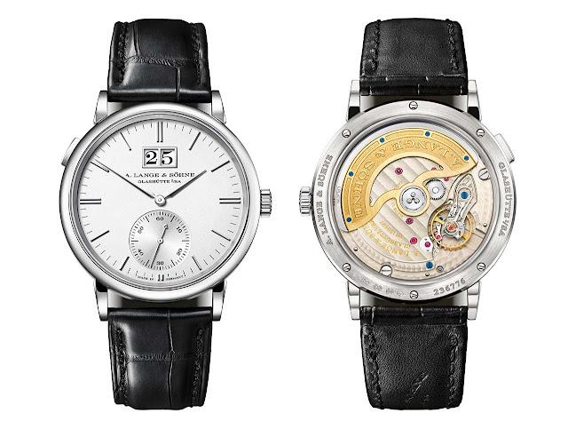 A. Lange & Söhne Saxonia Outsize Date with argenté dial 381.026