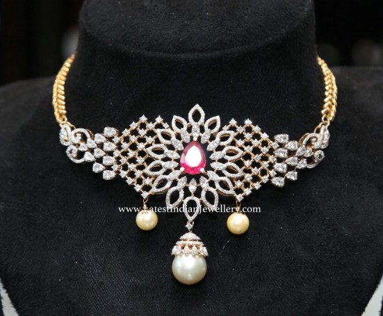 Simple Diamond Choker from Sunitha