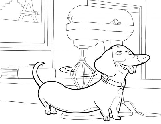 Dogs coloring pages 38