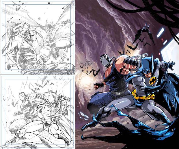Batman Comic Book Concept Art