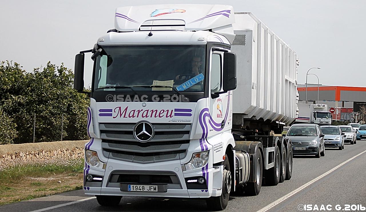 Camiones y autobuses en baleares mercedes actros mpiv - Transporte islas baleares ...