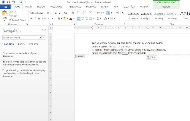 write identitiy letterhead