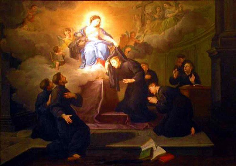 Os Sete Santos Fundadores ecebem o hábito de mãos de Nossa Senhora, anónimo ca. 1700