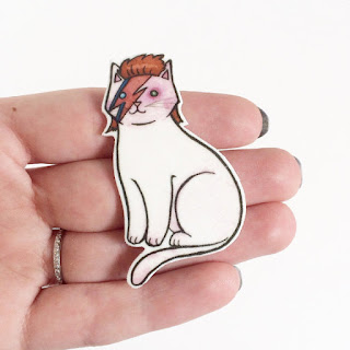 david bowie cat pin halloween accessory