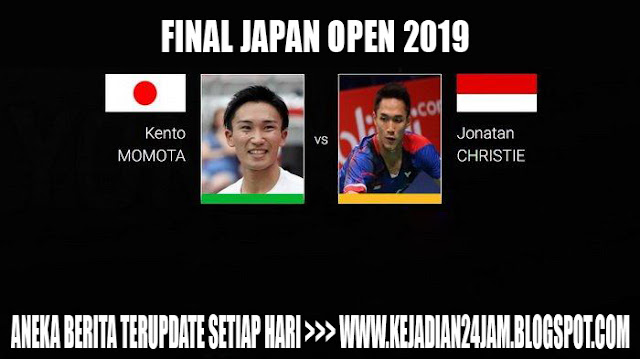 Jonatan Christie VS Momota Di Final Japan Open 2019