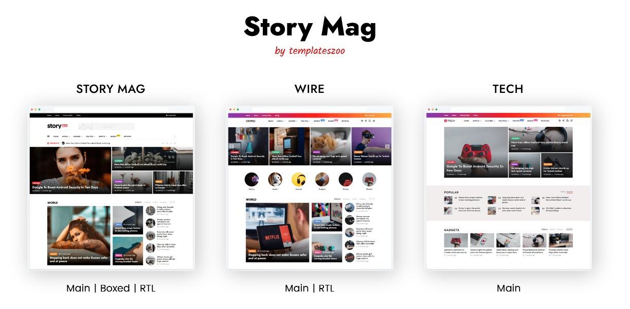 Story Mag - Haber ve Magazin Blogger Teması