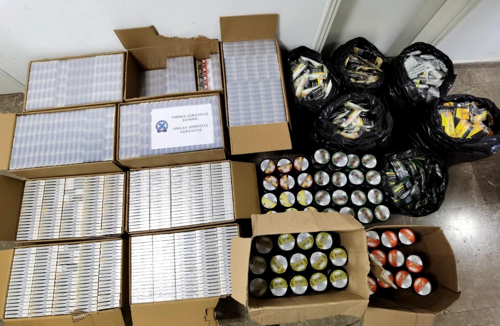 Ξάνθη: Γέμισαν την αποθήκη με χιλιάδες λαθραία τσιγάρα και καπνό