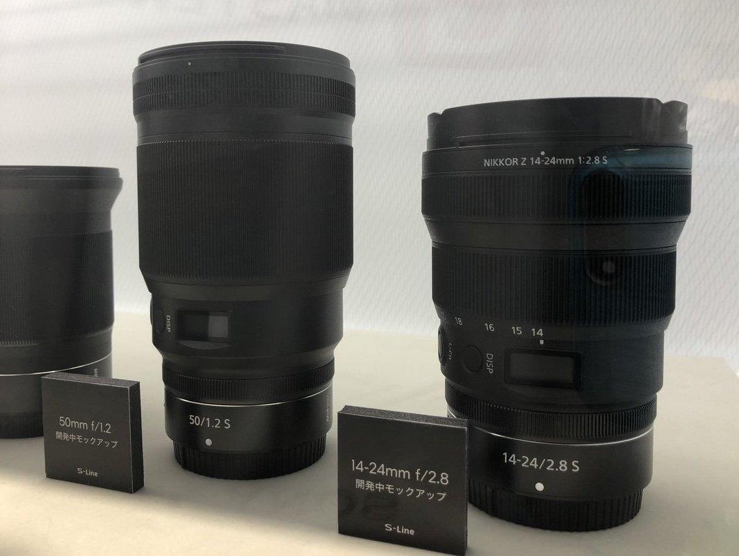 Объективы Nikon Nikkor Z 50mm f/1.2 S и Nikkor Z 14-24mm f/2.8 S