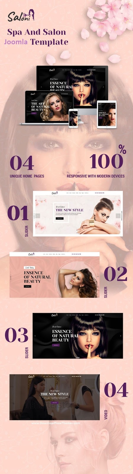 Best Spa and Salon Website Template