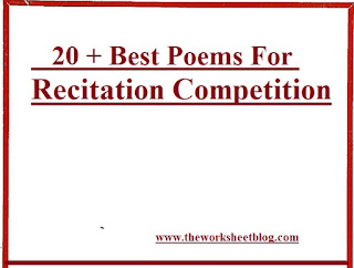 20 + Best Poems For Recitation Competition