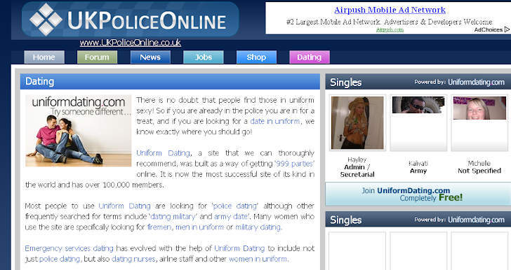 Law enforcement dating site