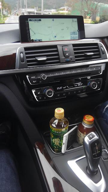 BMW320dラグジュアリーのコンソールパネル