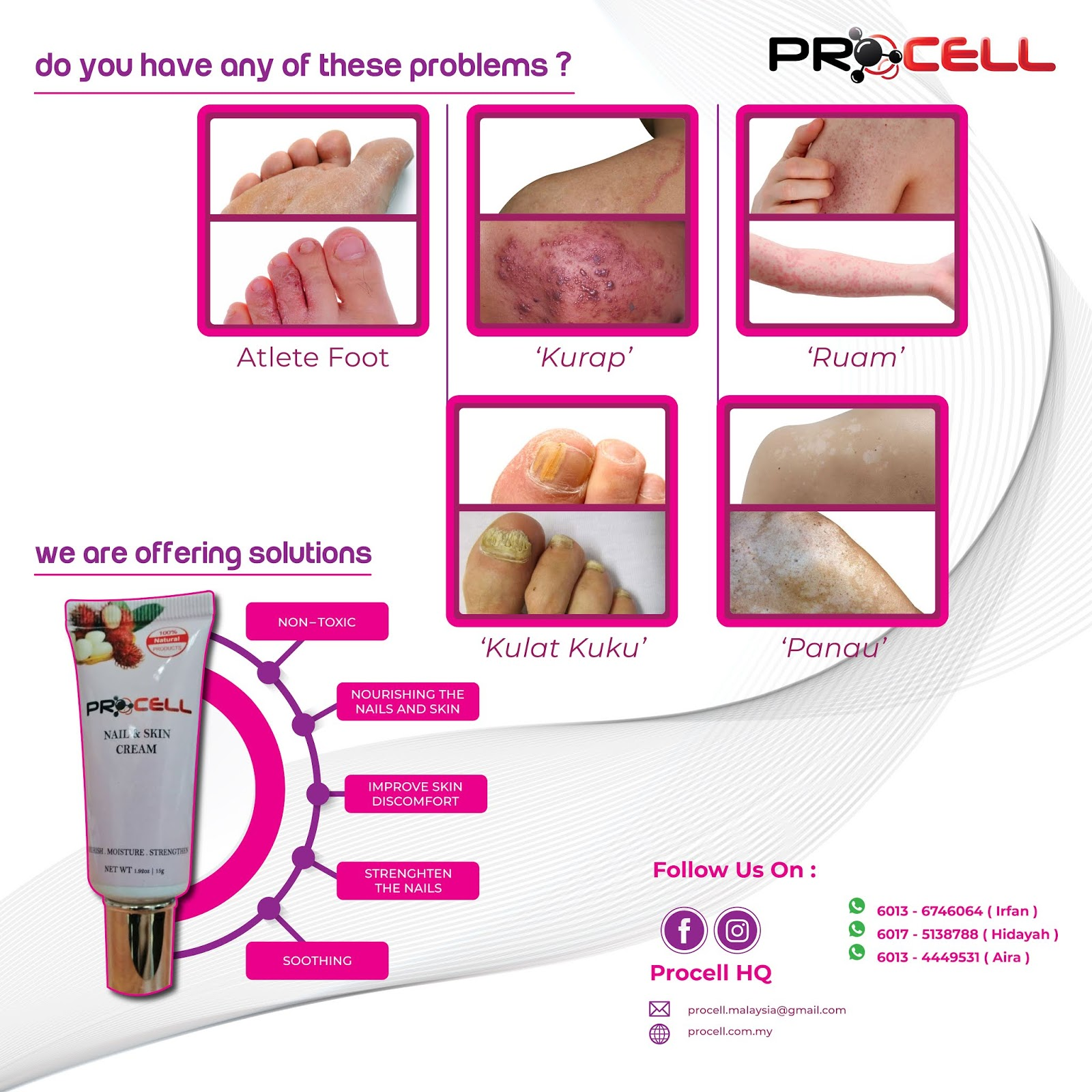 PROCELL Skin & Nail Cream