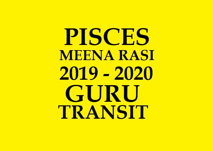 2019 - 2020 GURU PEYARCHI PALAN MEENA RASI