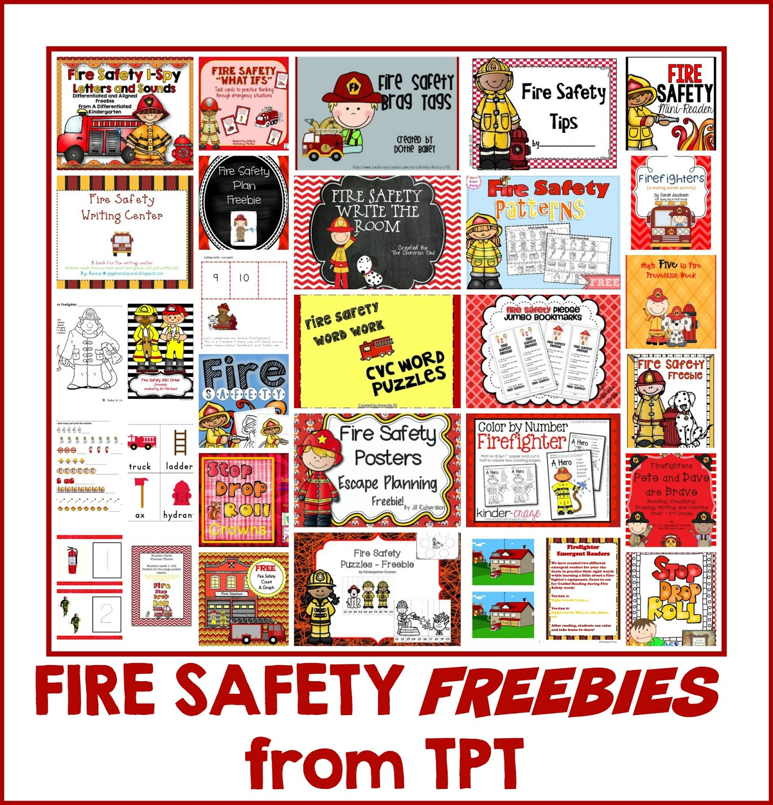 Fire Safety Freebie Kindergarten
