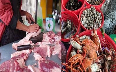 Bình Định: Thịt heo giảm giá nhẹ từ 5000-10000đ, Thủy sản giảm giá mạnh lên tới 50%