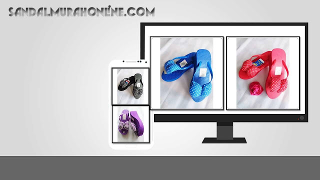 Distributor Sandal-Sandal  ASLI Merlin Spon TINGGI Polkadot / Pita