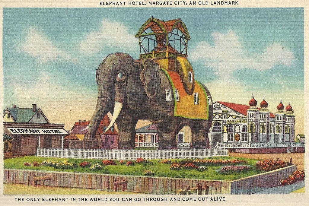 Postal del Hotel Lucy el Elefante
