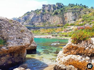 Isola Bella beach & island nature reserve, Taormina | Sicily, Italy | wayamaya