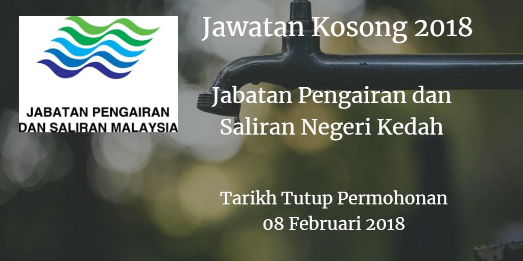 Jawatan Kosong Jabatan Pengairan dan Saliran Negeri Kedah 08 Februari 2018